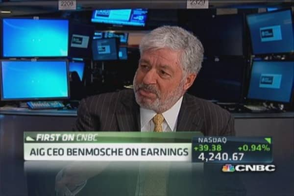 AIG's Benmosche: Doing things in a very proprietary way