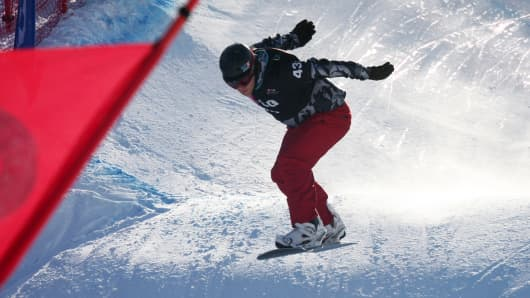 Ross Powers in the 2010 LG Snowboarding World Cup in Stonham