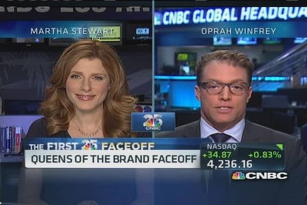 CNBC 25 faceoff: Martha Stewart vs. Oprah Winfrey