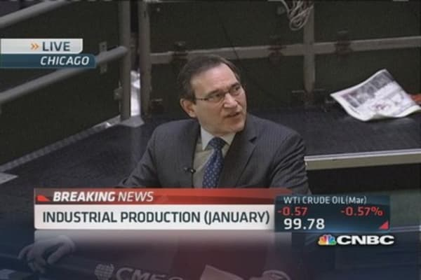 Industrial production down 0.3% in January