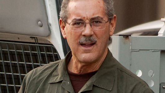 Allen Stanford arriving at the Bob Casey Federal Courthouse in Houston in March 2012.