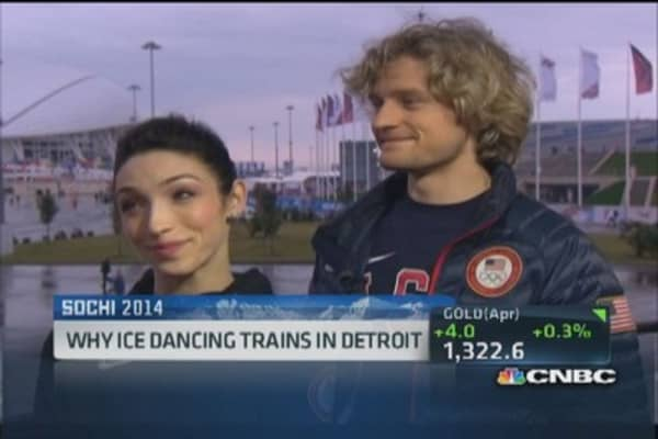 US ice dancing gold medalists on Detroit