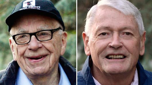 Rupert Murdoch and John Malone