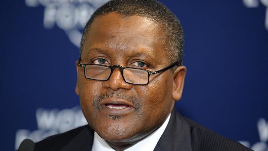 Nigerian Aliko Dangote, President and Chief Executive Officer of the Dangote Group.