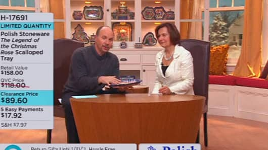 Screenshot from QVC Home Shopping Channel.