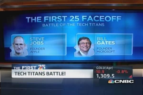 Battle of the tech titans: Jobs vs. Gates