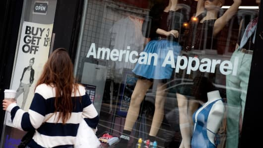 An American Apparel retail store in Washington, D.C.