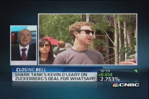 'Shark Tank's' O'Leary: Facebook, WhatsApp deal shocking
