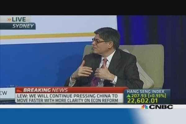 Lew: China can manage shadow banking