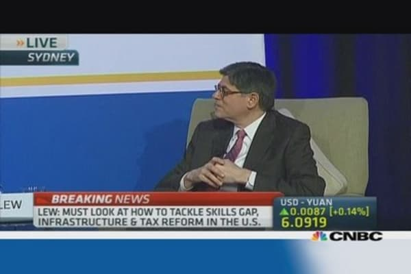 Jacob Lew highlights 3 key issues for the US