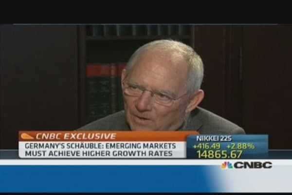 EMs should 'do their homework': Schäuble