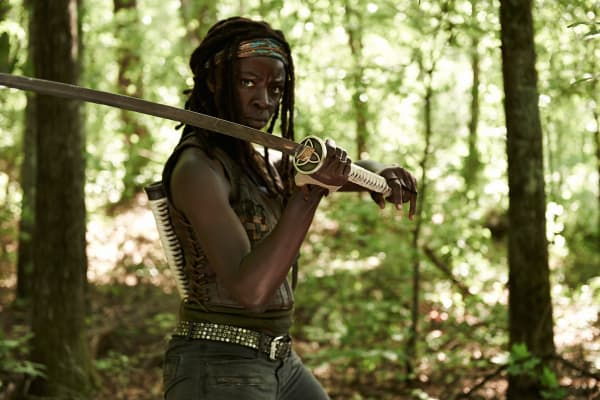 Danai Gurira plays Michonne on The Walking Dead.