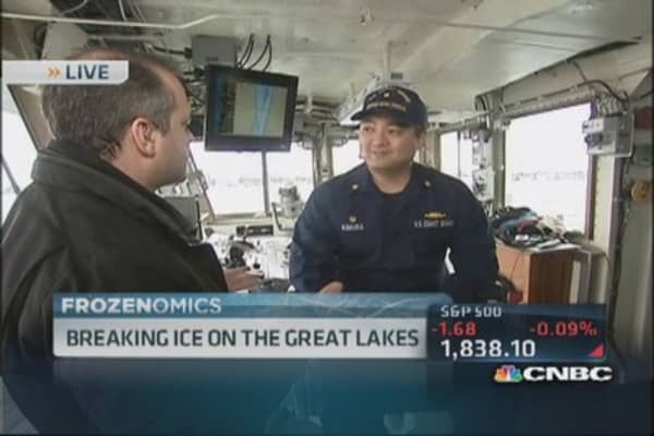 Great freeze on the Great Lakes