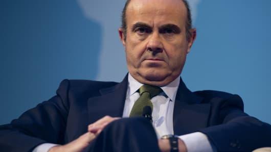 Spain's Minister of Economy Luis de Guindos
