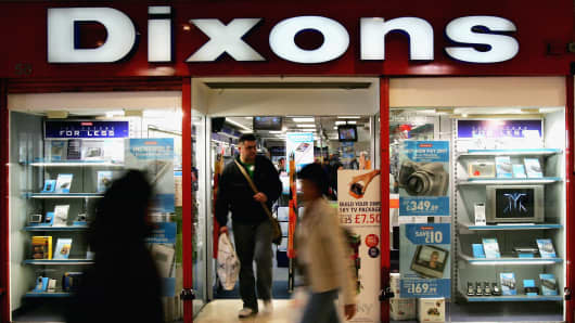 A Dixons store in Britain
