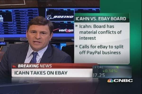 Carl Icahn takes on eBay