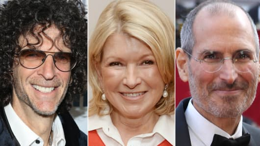 Howard Stern, Martha Stewart and Steve Jobs.