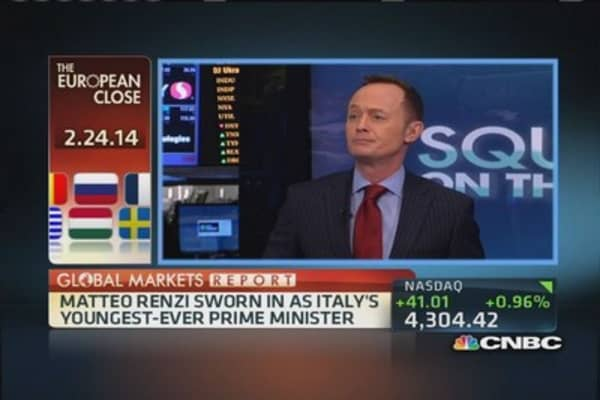 European markets: Renzi sworn in as Italy's PM