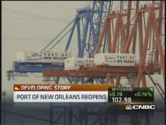 Port of New Orleans reopens
