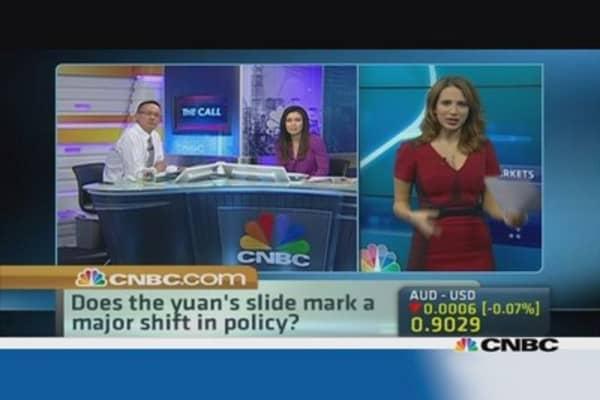 Reading into the yuan's recent slump