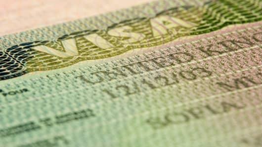 U.K. entry visa.