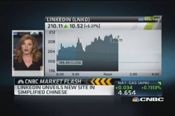 LinkedIn launching site in China