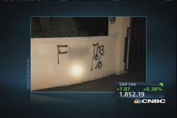 Wealthy Atherton, Ca hit by vandalism