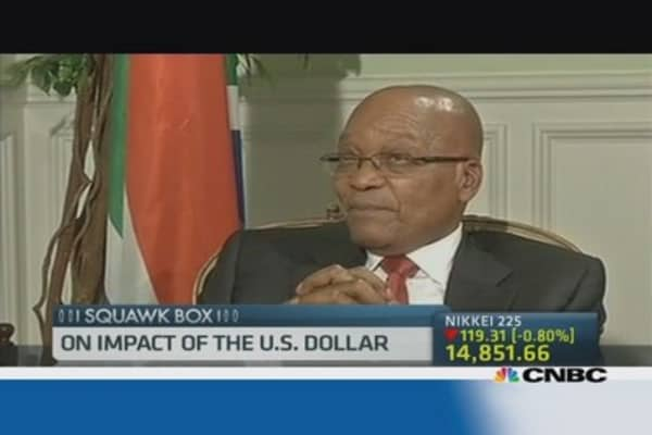 South Africa Pres: Blame it on the U.S. dollar