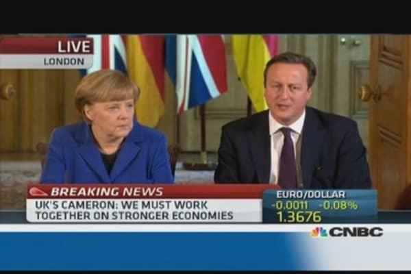 Cameron on Germany: 'It's a win-win relationship'