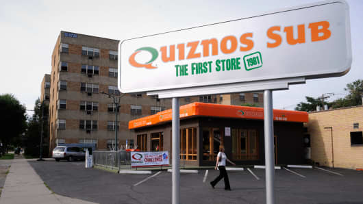 A Quiznos location in Denver.