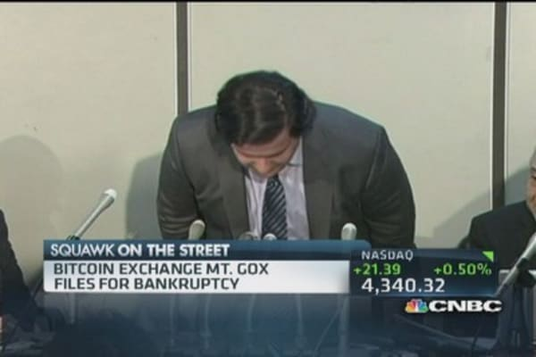 Bitcoin exchange Mt. Gox files for bankrupcy