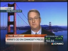 Annie's CEO: Lowered guidance on higher commodity price