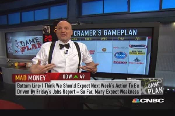 Next week all about Friday's non-farm payroll: Cramer