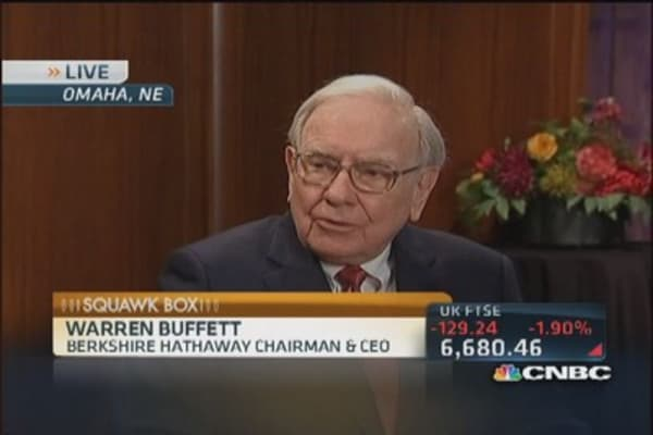 Buffett:  Unlikey to sell top 3 holdings