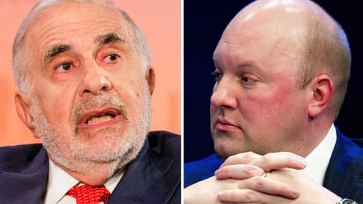 Carl Icahn (L) and Marc Andreessen (R).