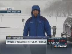 Icy mess hits East Coast