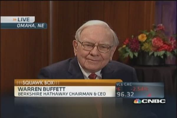 Buffett: Climate change has had no effect on insurance market