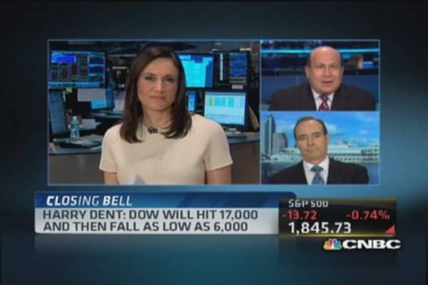 Harry Dent predicts most dangerous investing period