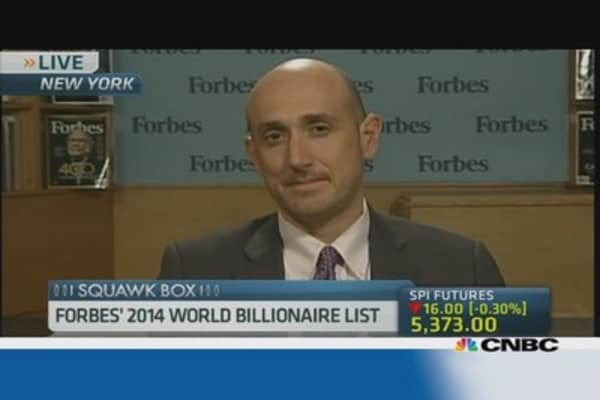 Reading into Forbes' 2014 billionaires list