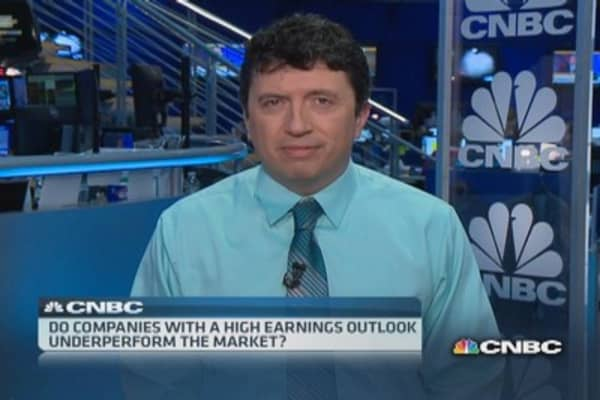 High earnings outlook, market underperformers
