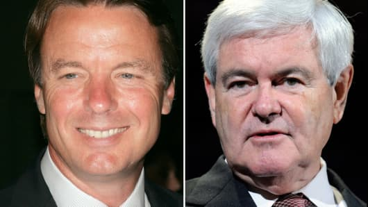 John Edwards and Newt Gingrich.