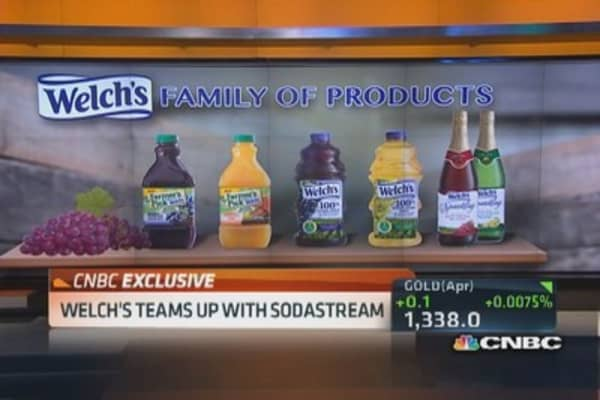 Welch's CEO: At-home carbonation will grow