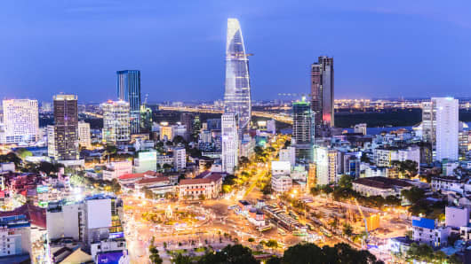Skyline, Ho Chi Minh City, Vietnam