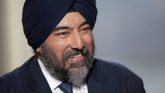 Jaspal Bindra, Standard Chartered Plc's chief executive officer for Asia, smiles during an interview in Hong Kong, China.