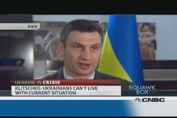 Putin is scared of Ukraine uprising: Klitschko