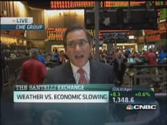 Santelli Exchange: Weather issues & economy