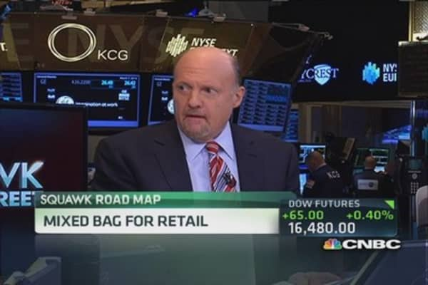 Cramer's good, bad and ugly retail plays