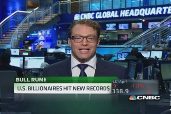 US billionaires hit new record