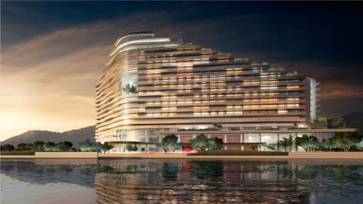 Rendering of the Sheraton Zhuhai Hotel in China