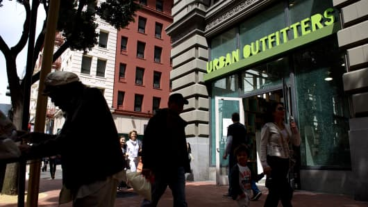 An Urban Outfitters store in San Francisco, California.
